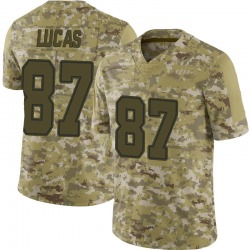 Nike Marcus Lucas Dallas Cowboys Youth Limited Camo 2018 Salute to Service Jersey